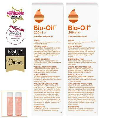 Bio-Oil Skincare,2 x 200ml,Suitable for face & body,Contains Vitamins A & E,New