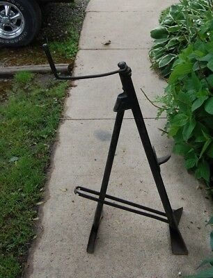 Vintage Car Bumper Jack 1950 S 1960 S Possibly Lincoln Folding