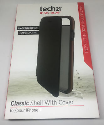 Apple Iphone 7 tech21 Classic shell case impact shockproof book wallet cover