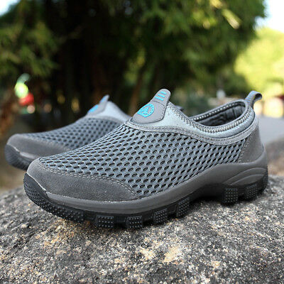 Mens  Casual Trainers Running Walking Hiking Gym Slip On Sports Shoes Mesh New