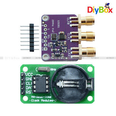 25MHZ Si5351A I2C Clock Generator Breakout 8KHz to 160MHz for Arduino+DS1302