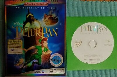 Peter Pan Anniversary & Return to Neverland Disney Movie Club Exclusive DVD only