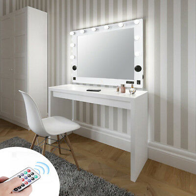 Large Hollywood Bluetooth Vanity Makeup Mirror Led Light Tabletop