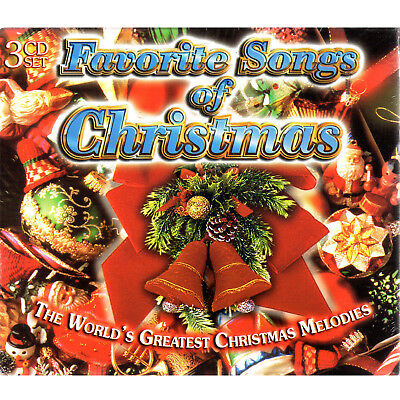 favorite songs of christmas 3 cd box set holiday music vg - Christmas Country Songs