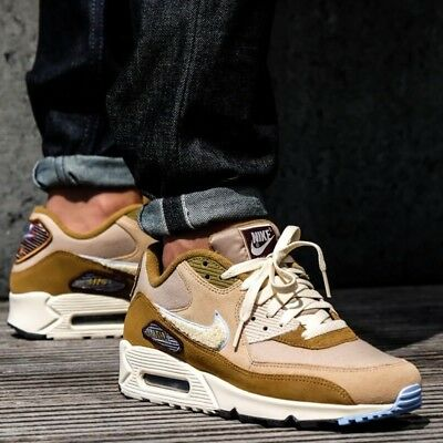 64861a839d22 Nike Air Max 90 Premium SE CHENILLE SWOOSHES Men s Shoes Lifestyle Comfy  Sneaker