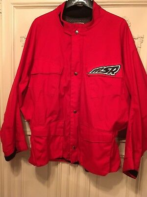 MSR Malcolm Smith Racing Gold Medal Jacket  Enduro ISDE ISDT Red XXL