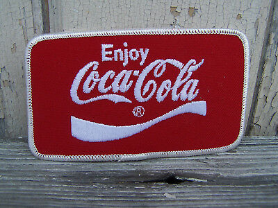 Vintage New Old Stock Enjoy Coca-Cola Coke Soda Red Cloth Patch 1980s