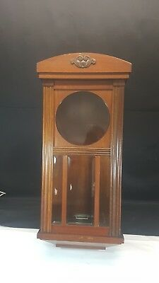 Antique c1940s Junghans of German Empty Wood Wall Clock Case