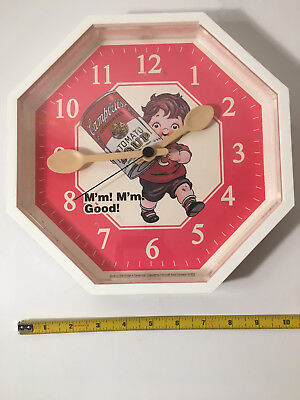 Campbell's Soup M'm! M'm! Good! Kitchen Wall Clock Quartz Made in USA 1990 Works