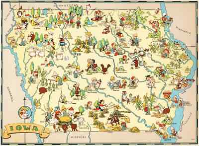 Canvas Reproduction Vintage Pictorial Map of Nevada  Print Ruth Taylor 1935