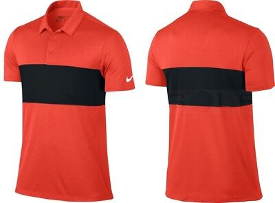 7382aade3  65 NEW Nike MENS DRI-FIT BREATHE COLOR BLOCK Golf Polo Shirt - SMALL RED