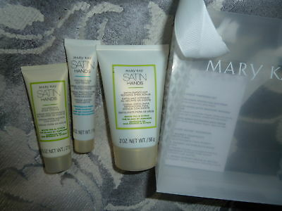 Mary Kay Satin Hands Pampering Set  White Tea & Citrus 3 products Mini Size NEW