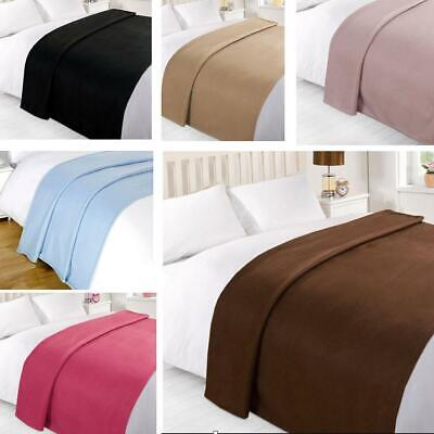 NEW LUXURY SOFT SNUG AND COSY WARM FLEECE BLANKET THROW SOFA BED 120CM x 150CM