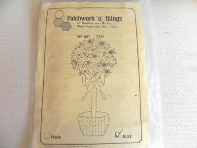 "Patchwork ""n"" Things Embroidery Kit - Topiary Tree - Blue"
