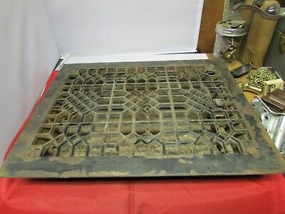 Vintage Cast Iron Ornate Heater Cover  With Fins On Bottom