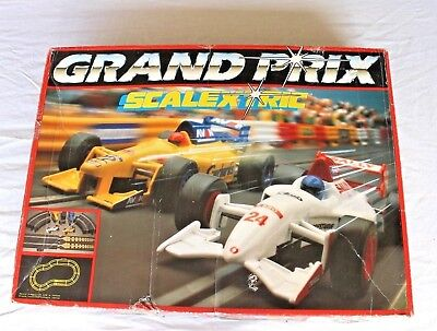 Scalextric Vintage Slot Car Set Grand Prix Super Rare (read description)