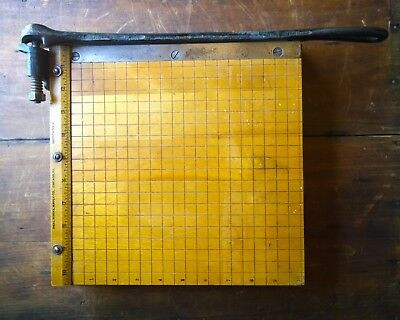 """Vintage Ingento No. 3 Small Paper Cutter 10"""""""
