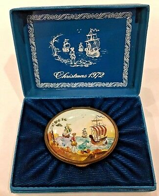 Bilston & Battersea Halcyon Days Ltd. Ed 1972 Oval Christmas Box