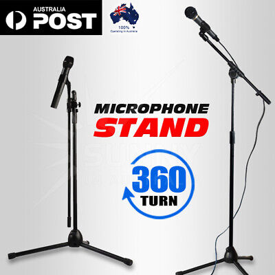 Telescopic Boom Microphone Stand Adjustable Mic Holder Tripod 1 to 2M AU POST