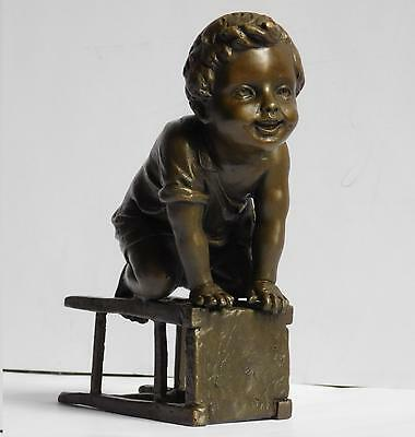"Bronze Statue of a Little Child by Juan Clara, 5-3/4"" high"