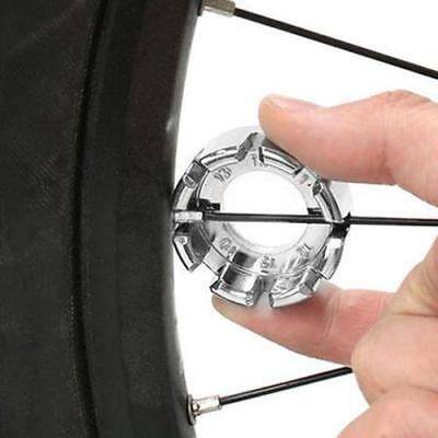 Silver STEEL Bicycle Spoke Key Light And PORTABLE Bike Wheel Rim WRENCH Tools