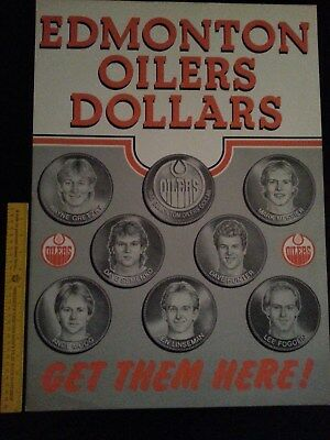 WAYNE GRETZKY 1983 Edmonton Oilers Dollars Poster (Double Sided) Get Them Here!