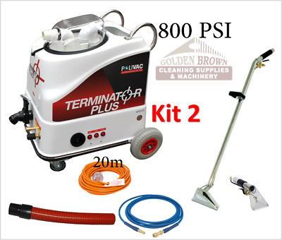 Polivac Terminator Plus Kit 2 Carpet Wet Extraction Tile Grout Cleaner 800 PSI