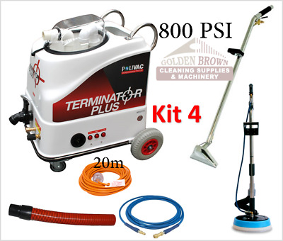 Polivac Terminator Plus Kit 4 Carpet Wet Extraction Tile Grout Cleaner 800 PSI