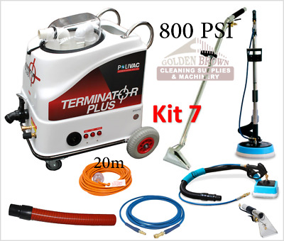 Polivac Terminator Plus Kit 7 Carpet Wet Extraction Tile Grout Cleaner 800 PSI