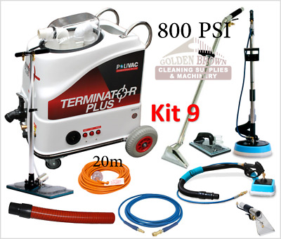 Polivac Terminator Plus Kit 9 Carpet Wet Extraction Tile Grout Cleaner 800 PSI