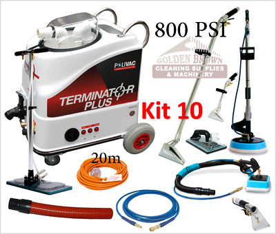 Polivac Terminator Plus Kit 10 Carpet Wet Extraction Tile Grout Cleaner 800 PSI
