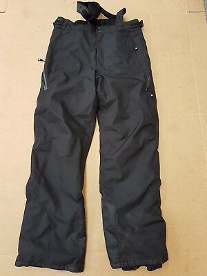 E654 Mens Nevica Black Snowboarding Skiing Trousers Medium M W32 L32