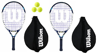 2 x Wilson Juice 22 Junior Tennis Rackets + 3 Tennis Balls RRP £130