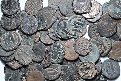 Lot Of Byzantine Large Bronze Follis Coins - ONE BID FIVE COINS