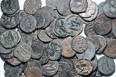 Lot Of Byzantine Large Bronze Follis Coins - ONE BID 50 COINS