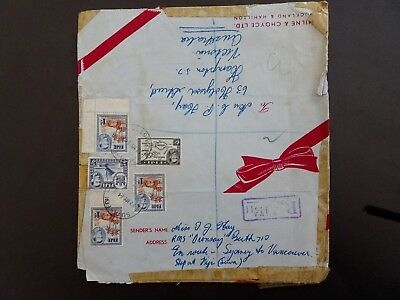 Envelope transit Syd   Vancouver sent by Miss Hay, Fiji RMS Oransay Berth 710