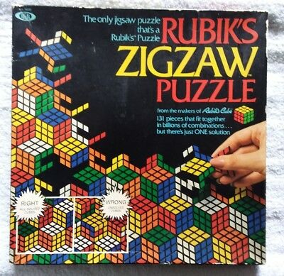 Rubiks Zigzaw Puzzle Vintage Game 1982 Ideal Made In USA