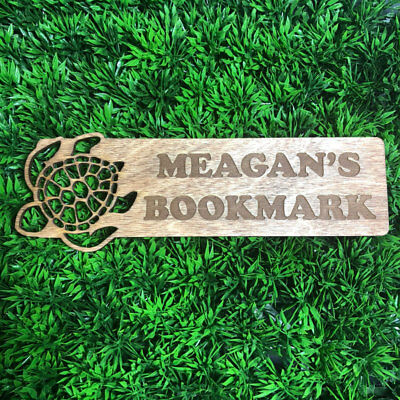 Custom Wooden Bookmark personalized with your Name or Saying