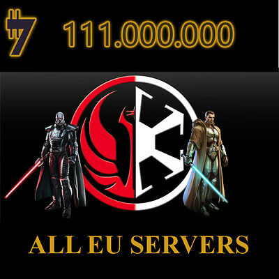 SWTOR Credits 111.000.000 111 Million ONLY FOR DARTH MALGUS  SERVER