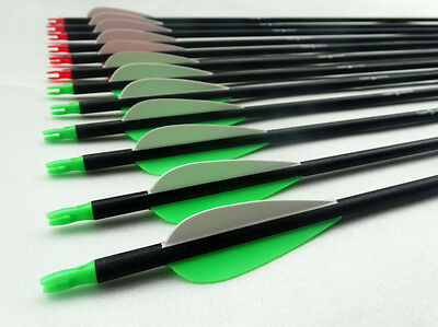 6 Archery arrows Broadhead compatible. recurve or compound Bow 24 to 31.5 inch.