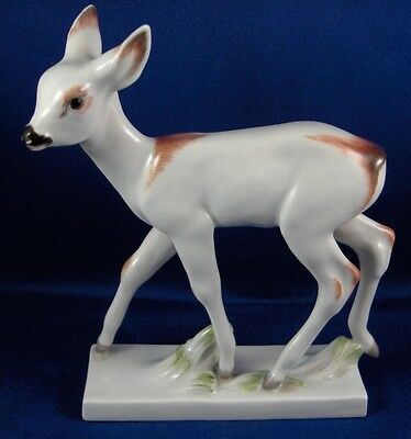 Great Meissen Porcelain Art Deco Deer Figurine Figure Porzellan Reh Figur