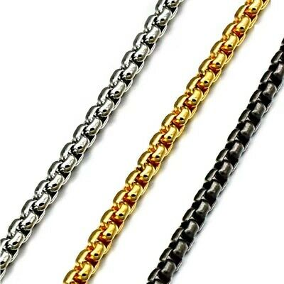 2-2.5-3.5-4mm Wholesale 316L Stainless Steel Square Rolo Chain Necklace 18-36''
