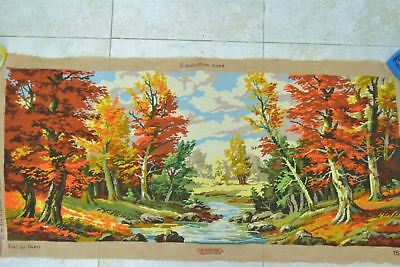 COMPLETED TAPESTRY - L'AUTOMNE DORE' by Royal Paris - 150cm x 50cm unframed