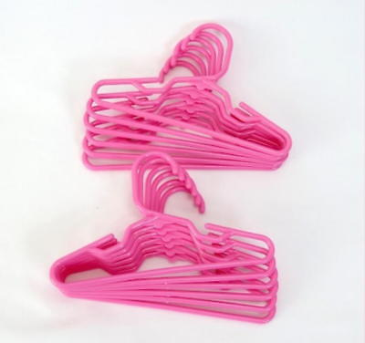 18 inch DOLL CLOTHES HANGERS 12 HOT PINK HANGERS MADE FOR AMERICAN GIRL DOLLS