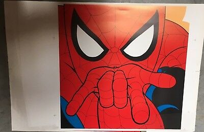 SPIDER-MAN    SQUARE FACE PRINT LITHOGRAPH  Warner Bros