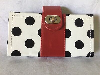 "File ""n"" Go Coupon Organizer Wallet Binder Red And Black"