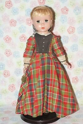 "BEAUTIFUL Vintage 14"" Madame Alexander JO Little Women Hard Plastic Strung Doll"