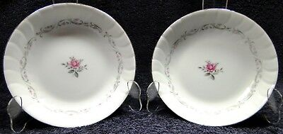 TWO Fine China of Japan Royal Swirl Soup Bowls Salad (Set of 2) EXCELLENT