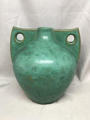 Newcomb College Pottery Vase by Joseph Fortune Meyer Green Rare Form