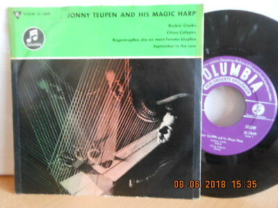 "7""EP 1958 ! JONNY TEUPEN AND HIS MAGIC HARP - Rockin´ Clocks / China Calypso /"
